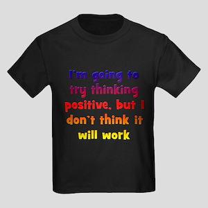 Pessimistic Positive Thinking Kids Dark T-Shirt
