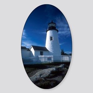 Lighthouse 3 Oval Sticker