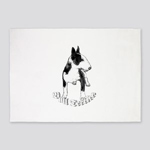 Bull Terrier Dog 5'x7'Area Rug