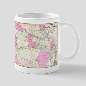 Vintage Richmond & Tidewater Virginia Map (18 Mugs