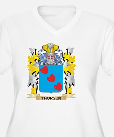 Thorsen Family Crest - Coat of A Plus Size T-Shirt