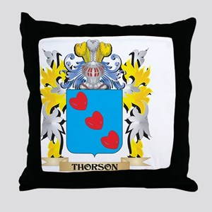 Thorson Family Crest - Coat of Arms Throw Pillow