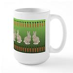 Rabbits and Carrots Large Mug