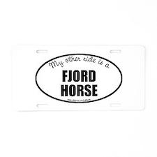 Norwegian Fjord Horse Aluminum License Plate