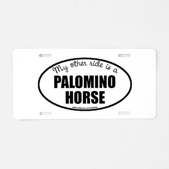 Palomino Horse Aluminum License Plate