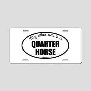 Quarter Horse Aluminum License Plate