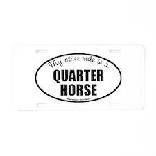 Quarter Horse Aluminum License Plate