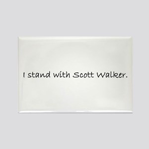 I Stand with Scott Walker. Rectangle Magnet
