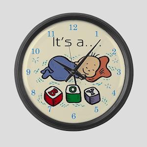It's A Boy Large Wall Clock