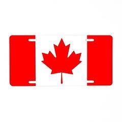 Candian Flag Aluminum License Plate