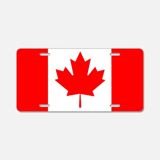 Candian Flag Aluminum License Plate