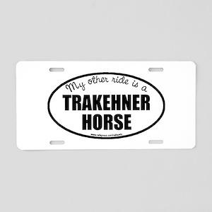 Trakehner Horse Aluminum License Plate