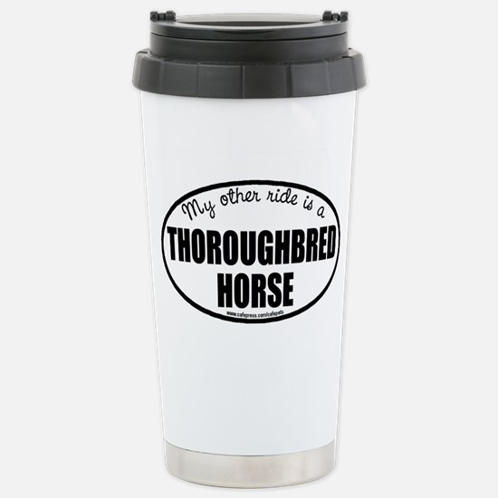 Thoroughbred Horse Stainless Steel Travel Mug