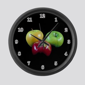 Apples Large Wall Clock