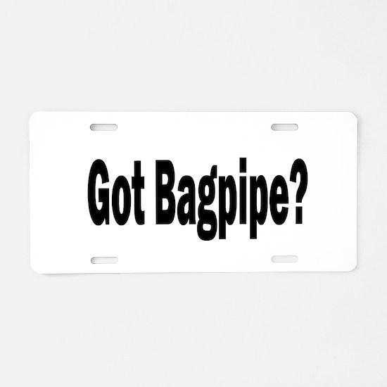 Funny Bagpipe Aluminum License Plate