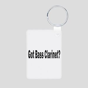 Bass Clarinet Aluminum Photo Keychain