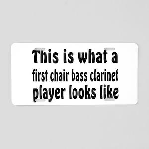 Bass Clarinet Aluminum License Plate