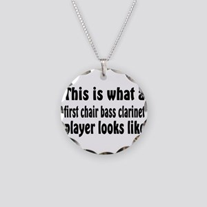 Bass Clarinet Necklace Circle Charm