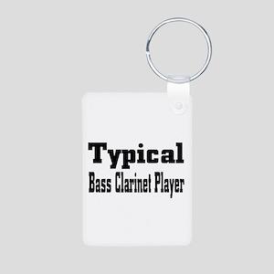 Typical Bass Clarinet Aluminum Photo Keychain