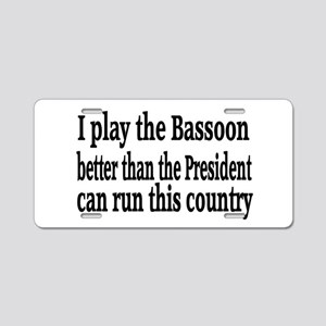 Bassoon Aluminum License Plate