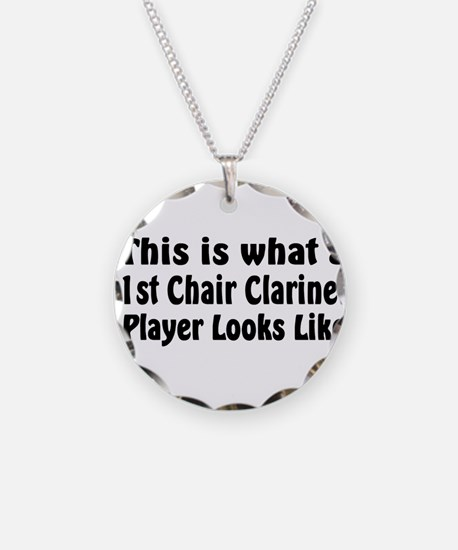 1st Chair Clarinet Necklace Circle Charm