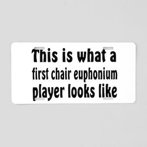 Euphonium Aluminum License Plate