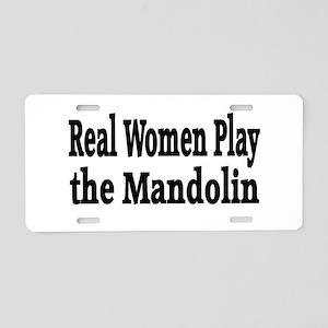 Mandolin Aluminum License Plate