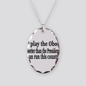 Oboe Necklace Oval Charm