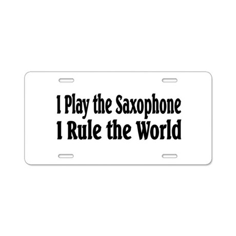 Saxophone Aluminum License Plate by musicbandshirts