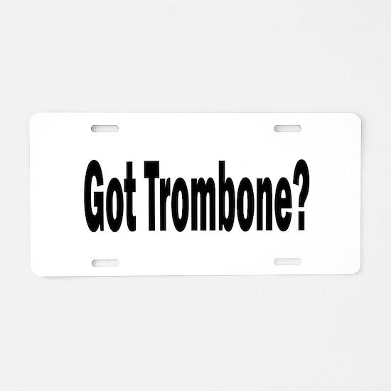 Trombone Aluminum License Plate