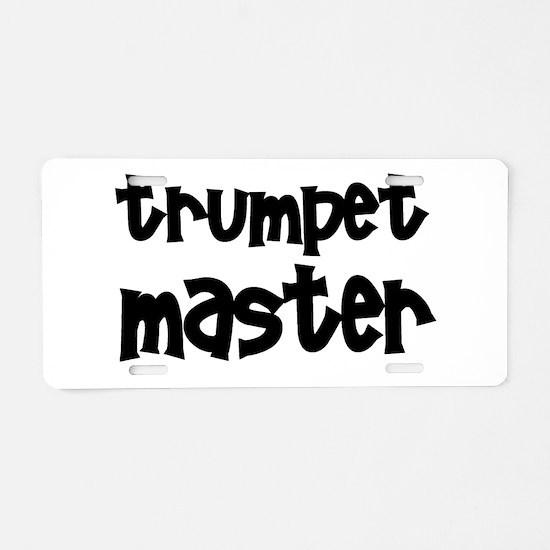 Trumpet Master Aluminum License Plate