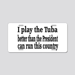Tuba Aluminum License Plate