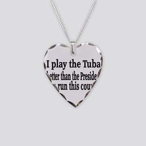 Tuba Necklace Heart Charm