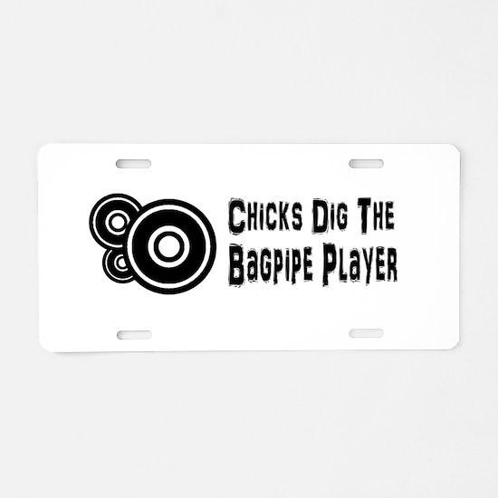 Music Aluminum License Plate