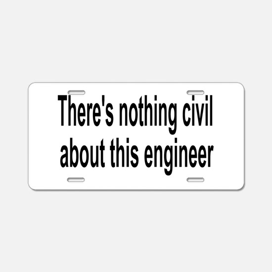 Civil Engineer Aluminum License Plate