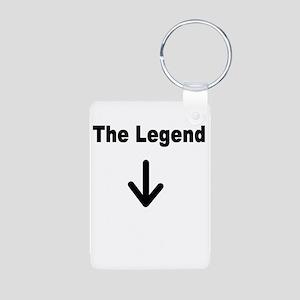 The Legend Aluminum Photo Keychain