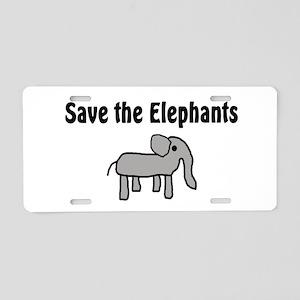 Save the Elephants Aluminum License Plate