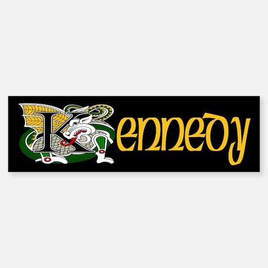 Kennedy Celtic Dragon Bumper Bumper Bumper Sticker