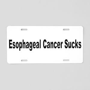 Esophageal Cancer Sucks Aluminum License Plate
