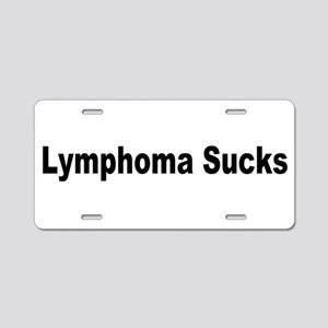 Lymphoma Sucks Aluminum License Plate