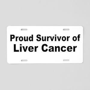 Proud Survivor Aluminum License Plate