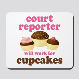 Funny Court Reporter Mousepad