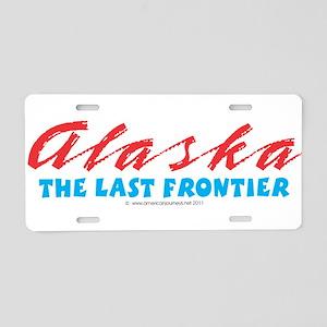Alaska - Last frontier Aluminum License Plate