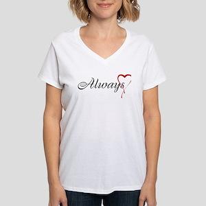 Always Women's V-Neck T-Shirt