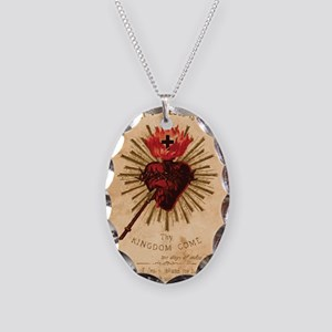 Sacred Heart of Jesus Necklace Oval Charm