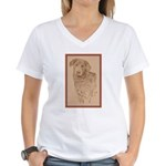 Chesapeake Bay Retriever Women's V-Neck T-Shirt