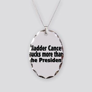 Bladder Cancer Necklace Oval Charm
