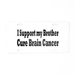 Brain Cancer Aluminum License Plate