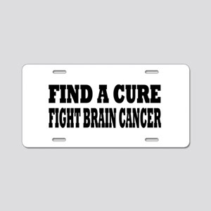 Brain Cancer Aluminum License Plate