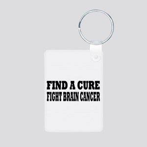 Brain Cancer Aluminum Photo Keychain